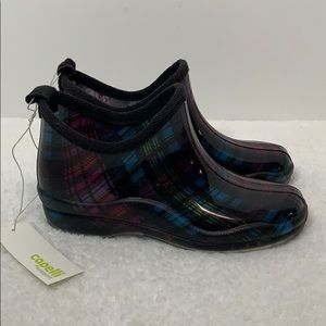 NWT Capelli New York plaid ankle rain boots size 7